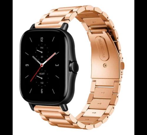 Strap-it® Strap-it® Xiaomi Amazfit GTS 2 / 2e / 2 Mini stalen band - rosé goud - bandbreedte 20mm