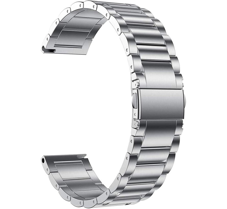 Strap-it® Garmin Venu SQ stalen bandje rvs - bandbreedte 20mm - zilver