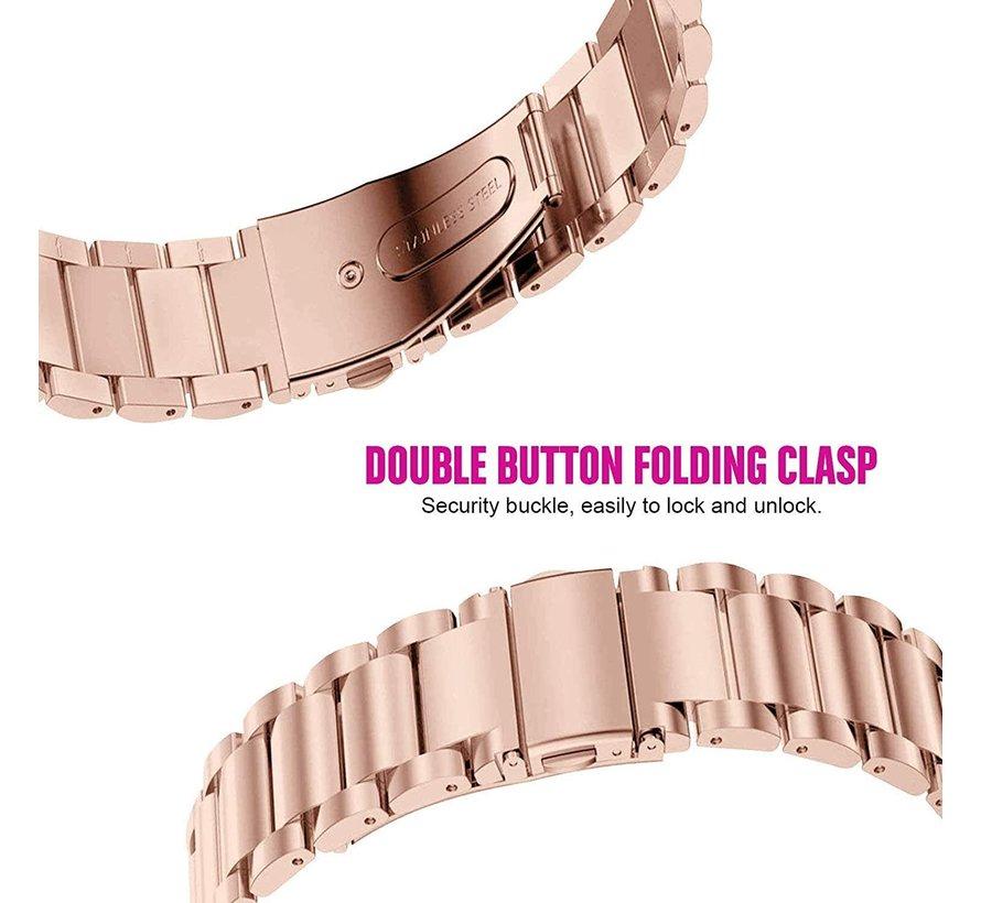 Strap-it® Garmin Venu SQ stalen bandje rvs - bandbreedte 20mm - rosé goud