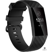 Fitbit Charge 4 / Fitbit Charge 3 / Fitbit Charge 3 special edition siliconen bandje - zwart