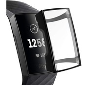 Fitbit Charge 3 | 4 TPU case / screen protector (zwart)