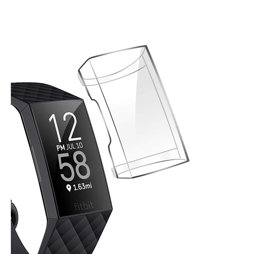 Strap-it® Fitbit Charge 3 | 4 TPU case / screen protector (transparant)