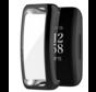 Strap-it® Fitbit Inspire 2 TPU case / screenprotector (zwart)
