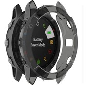 Strap-it® Garmin Fenix 6 (Pro) TPU case (transparant zwart)