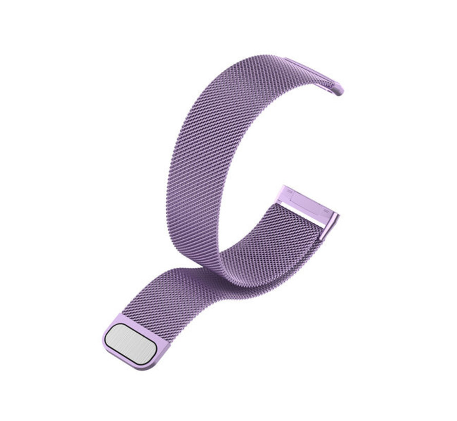 Strap-it® Fitbit Sense Milanese band (lichtpaars)