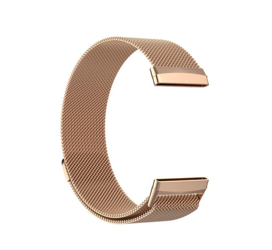 Strap-it® Fitbit Sense Milanese band (rosé goud)