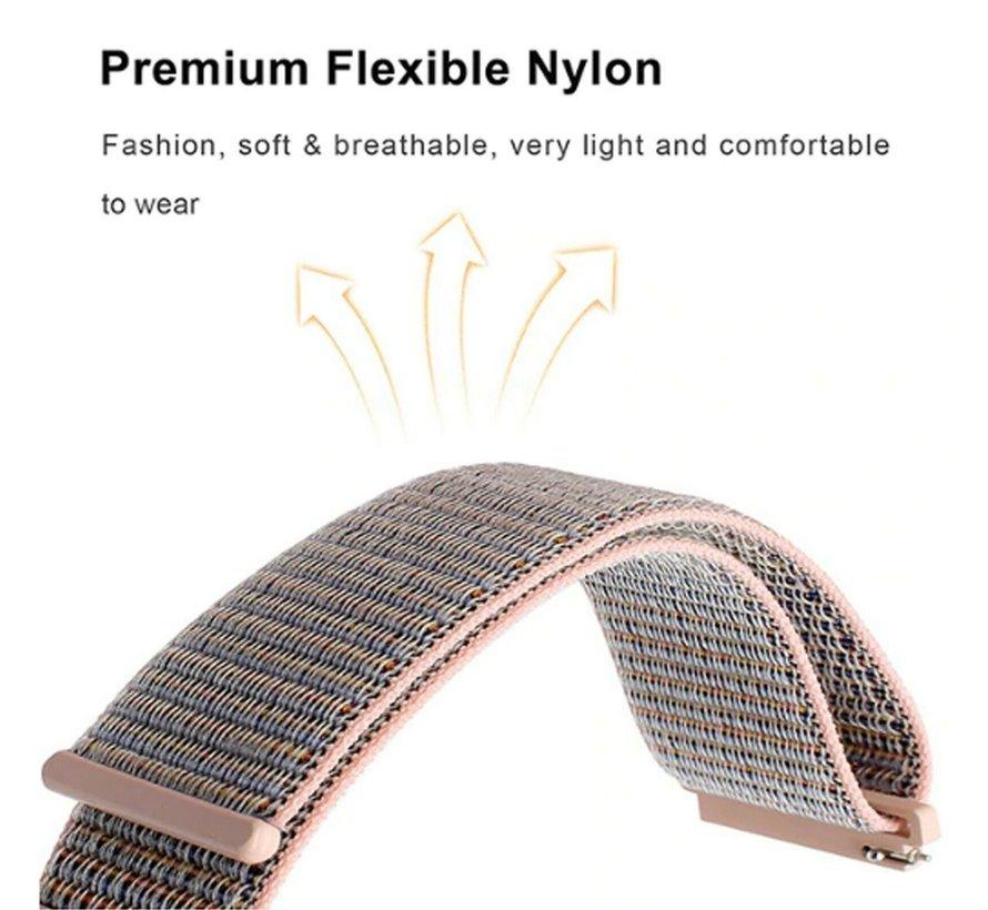 Strap-it® Fitbit Versa 3 nylon bandje (pink sand)