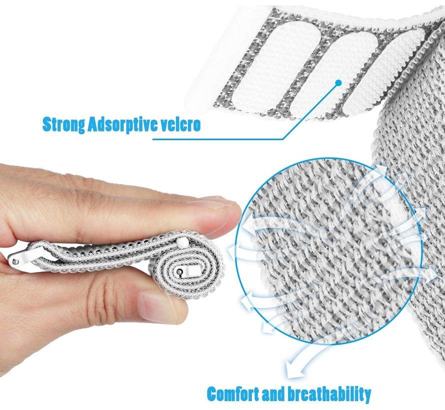 Strap-it® Fitbit Versa 3 nylon bandje (zeeschelp)