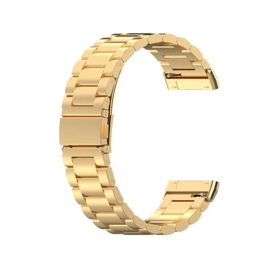 Strap-it® Fitbit Versa 3 stalen band (goud)