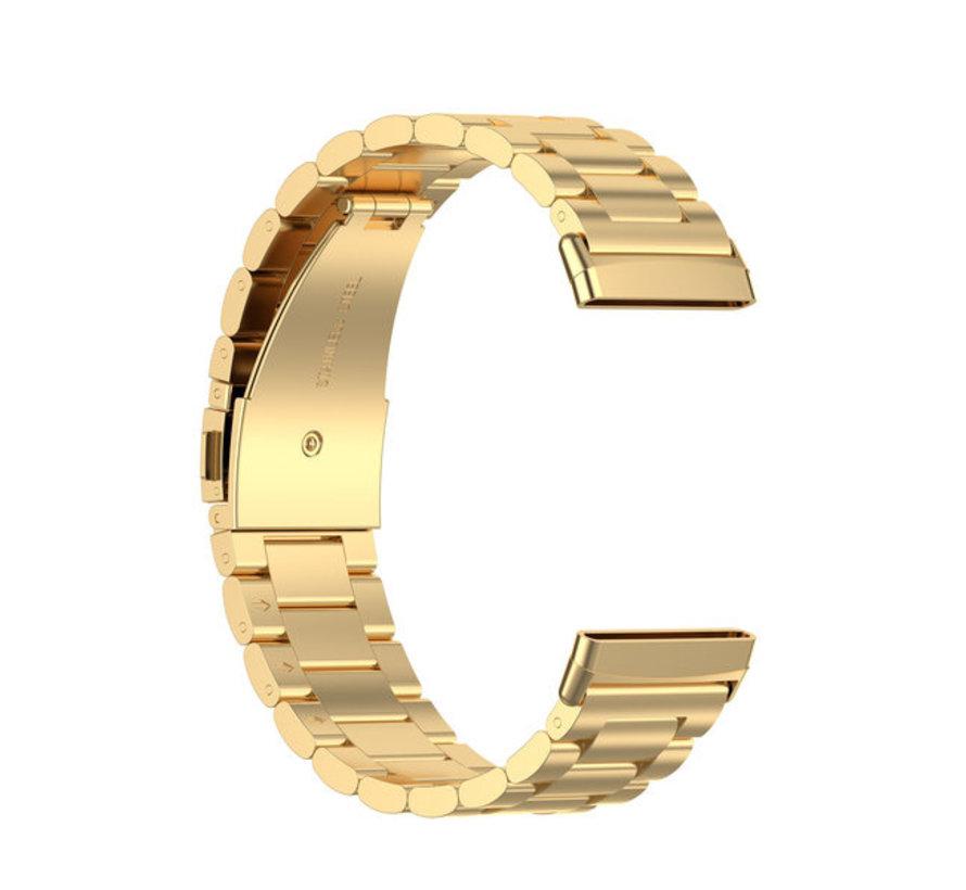 Strap-it® Fitbit Sense stalen band (goud)
