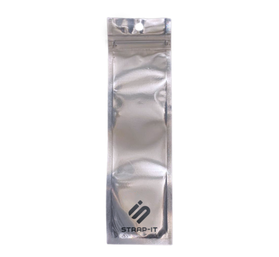Strap-it® Fitbit Sense bandje leer (strak zwart)