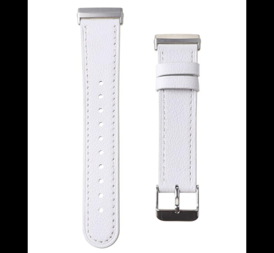 Strap-it® Fitbit Sense bandje leer (wit)