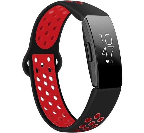 Strap-it® Strap-it® Fitbit Inspire (HR) sport band (zwart / rood)