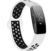 Strap-it® Fitbit Inspire (HR) sport band (wit /zwart)
