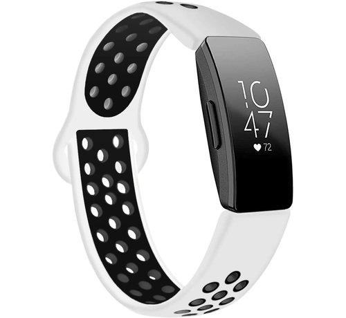Strap-it® Strap-it® Fitbit Inspire (HR) sport band (wit/zwart)