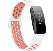 Strap-it® Fitbit Inspire (HR) sport band (wit /roze)