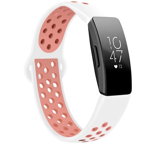 Strap-it® Strap-it® Fitbit Inspire (HR) sport band (wit/roze)