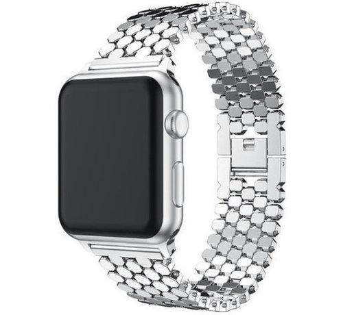 Strap-it® Strap-it® Apple Watch stalen vis band (zilver)