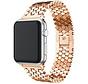 Strap-it® Apple Watch stalen vis band (rosé goud)