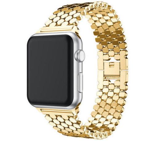 Strap-it® Strap-it® Apple Watch stalen vis band (goud)