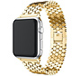 Strap-it® Apple Watch stalen vis band (goud)
