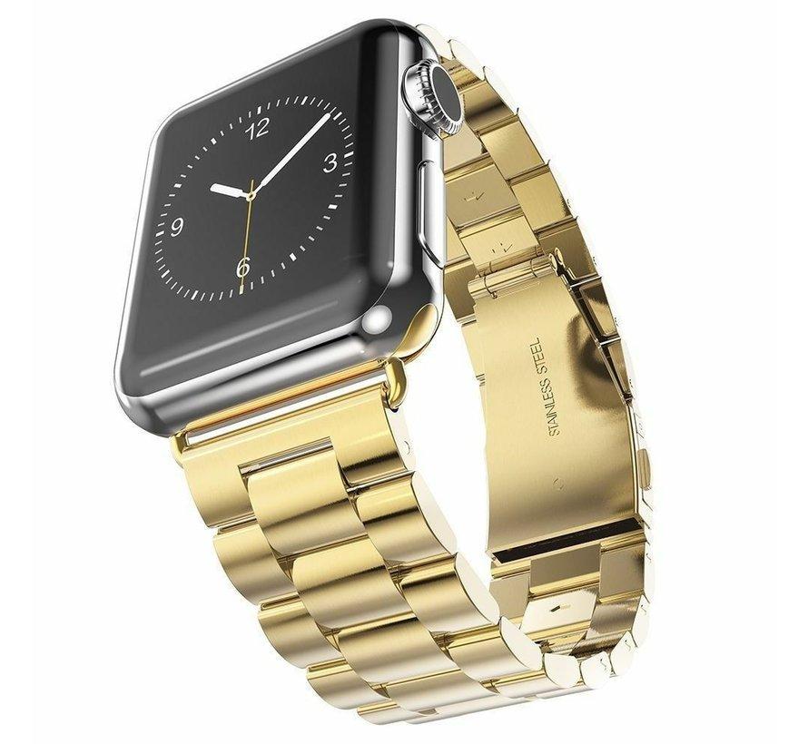 Strap-it® Apple Watch stalen band (goud)