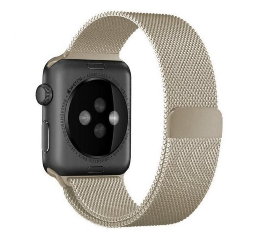 Strap-it® Apple Watch Milanese band (champagne)