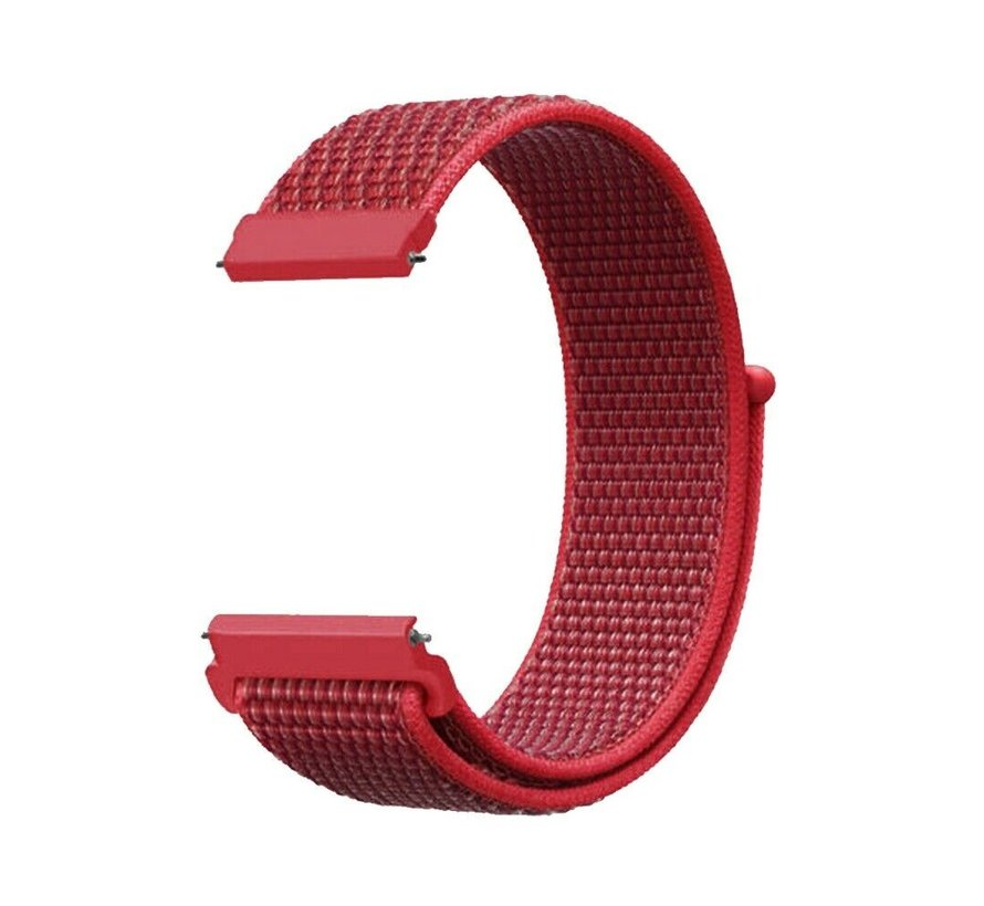 Strap-it® Garmin Vivoactive 4s nylon band - 40mm - rood
