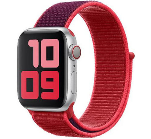 Strap-it® Strap-it® Apple Watch nylon band (paars/rood)