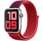 Strap-it® Apple Watch nylon band (paars/rood)