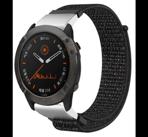 Strap-it® Strap-it® Garmin Fenix 5 / 6 nylon band (zwart)