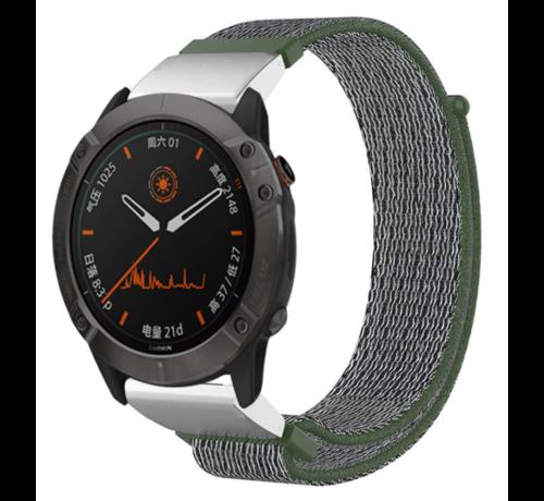 Strap-it® Strap-it® Garmin Fenix 5 / 6 nylon band (groen)