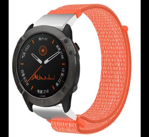 Strap-it® Strap-it® Garmin Fenix 5 / 6 nylon band (oranje)