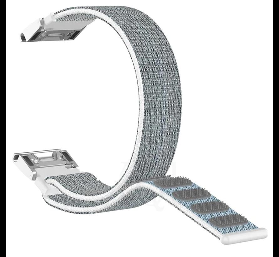Strap-it® Garmin Fenix 5 / 6 nylon band (zeeschelp)