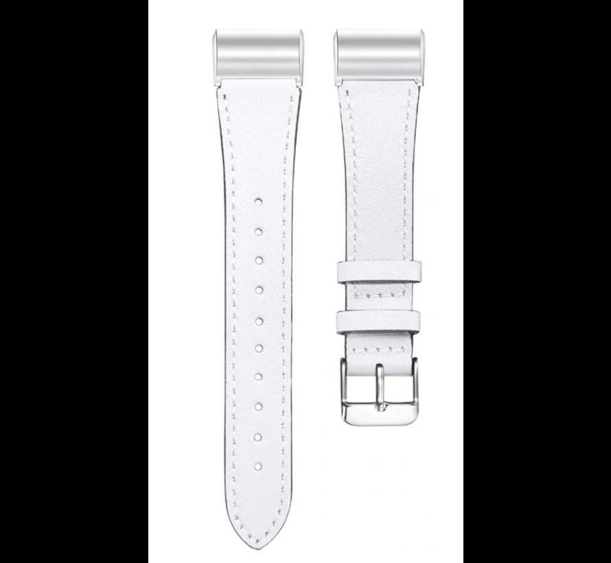 Strap-it® Fitbit Charge 4 bandje leer (wit)