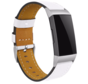Strap-it® Fitbit Charge 4 bandje leer (wit)