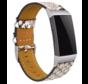 Strap-it® Fitbit Charge 4 bandje leer (slangenprint)