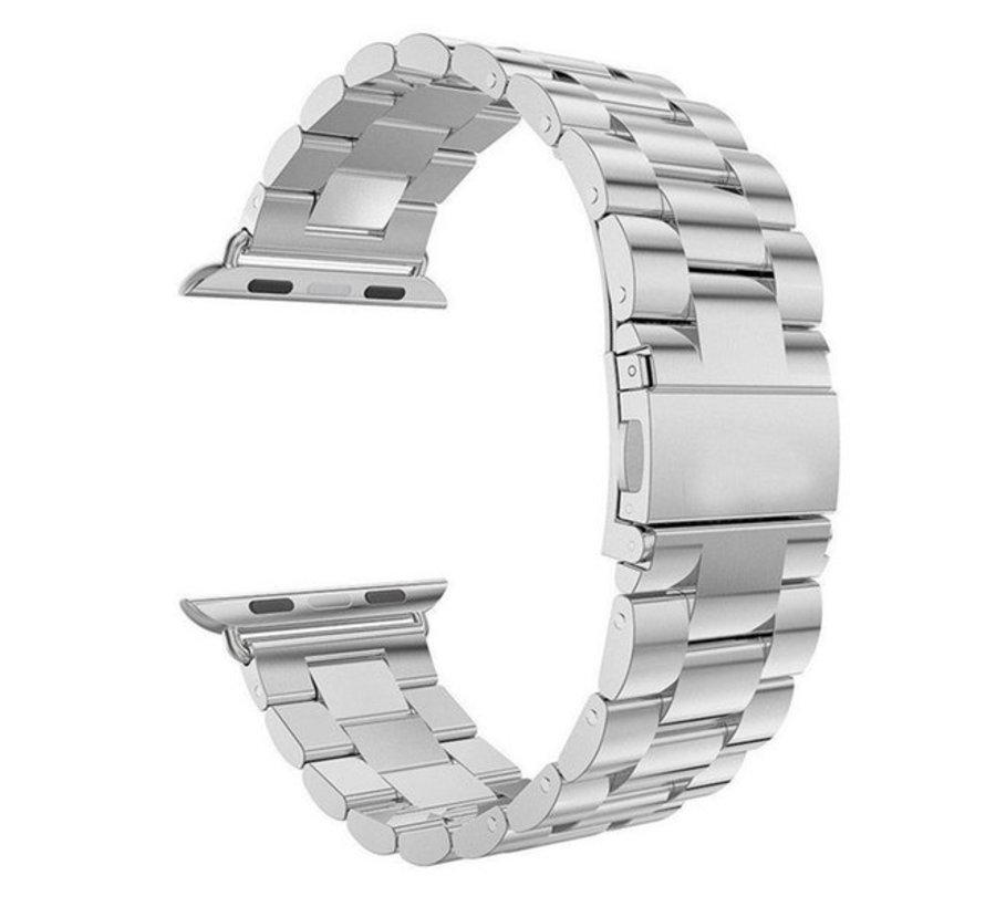 Strap-it® Apple Watch stalen band (zilver)