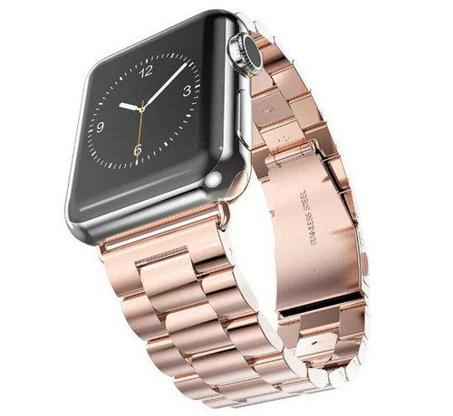 Strap-it® Strap-it® Apple Watch stalen band (rosé goud)