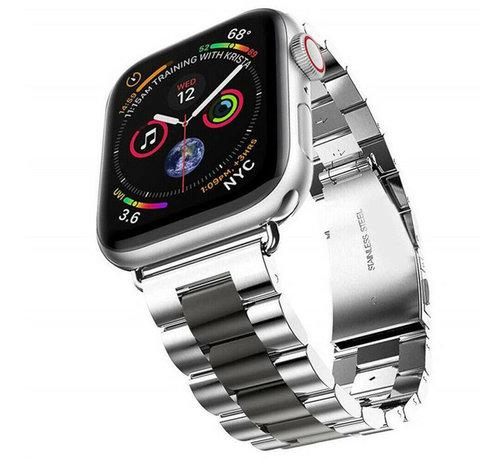 Strap-it® Strap-it® Apple Watch stalen band (zilver/zwart)