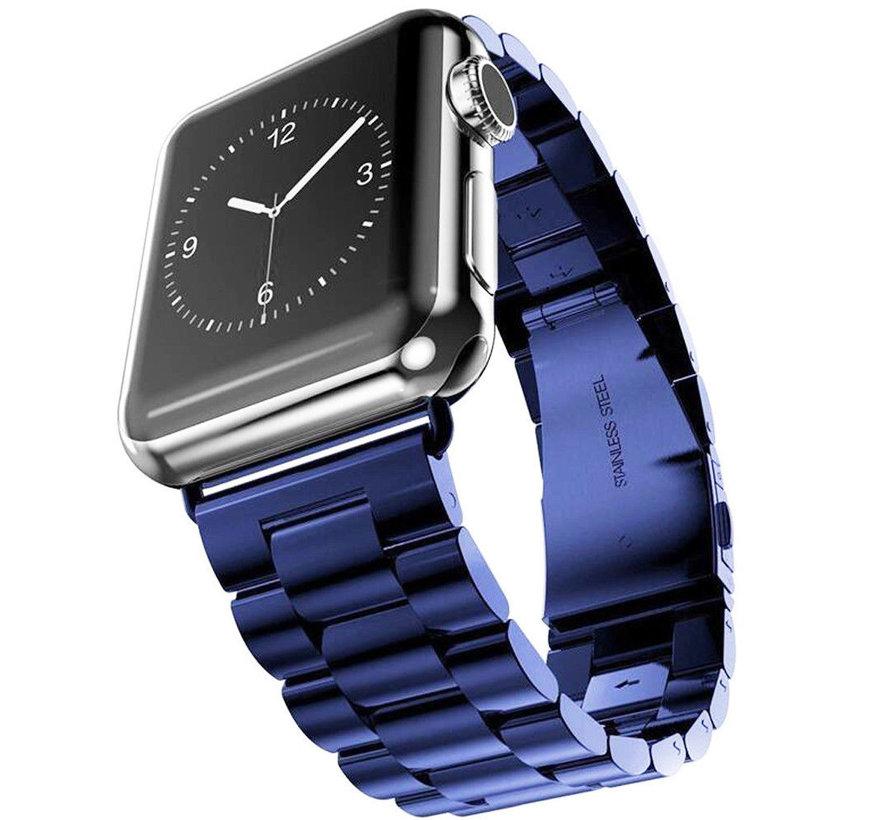 Strap-it® Apple Watch stalen band (blauw)