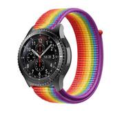 Strap-it® Samsung Galaxy Watch 46mm nylon band (regenboog)