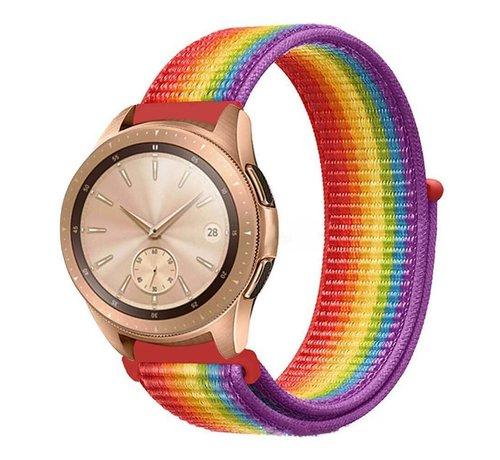 Strap-it® Strap-it® Samsung Galaxy Watch 42mm nylon band (regenboog)