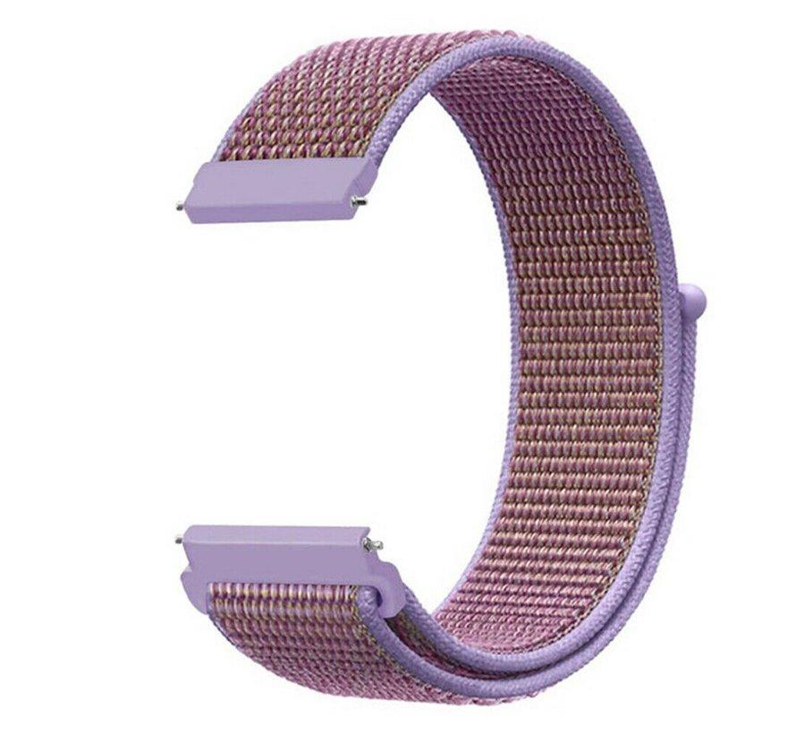 Strap-it® Garmin Vivoactive 4 nylon band - 45mm - lila