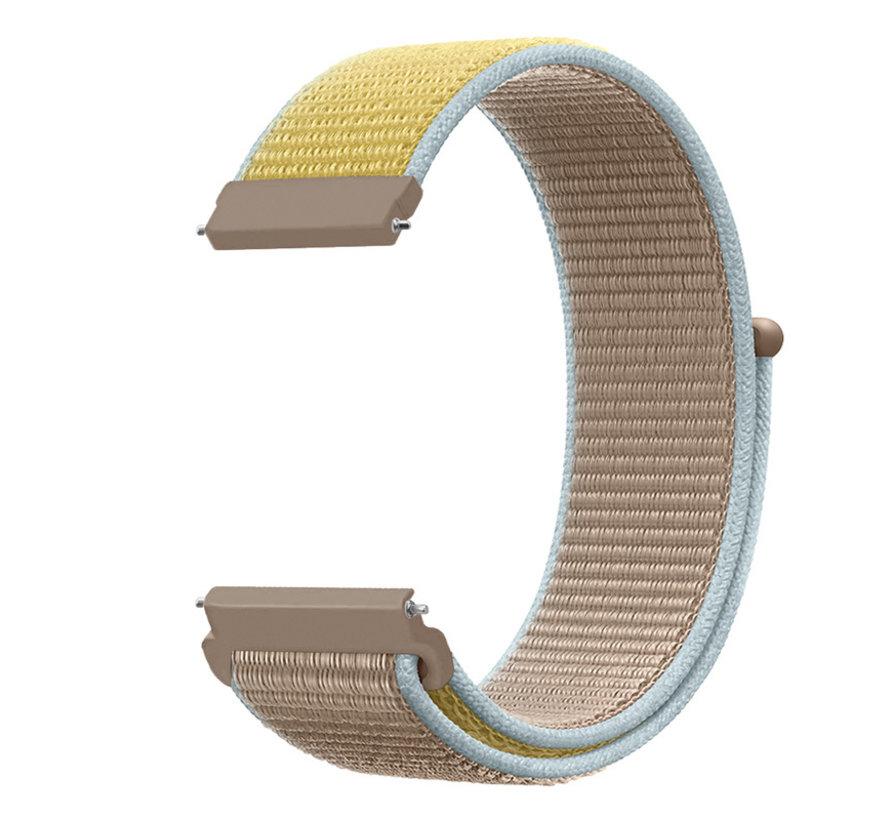 Strap-it® Garmin Vivoactive 4 nylon band - 45mm - camel