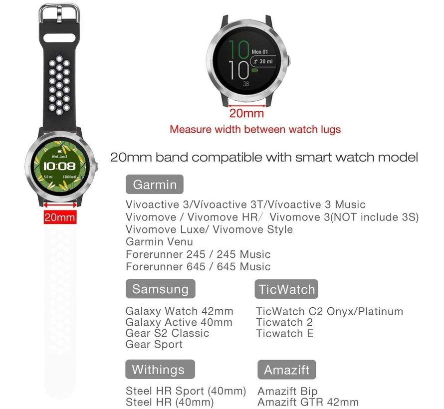 Strap-it® Garmin Vivomove HR nylon band (regenboog)