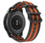 Strap-it® Samsung Galaxy Watch 42mm nylon gesp band (zwart/oranje)