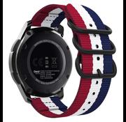 Strap-it® Samsung Galaxy Watch 42mm nylon gesp band (3-kleurig)