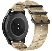 Strap-it® Samsung Galaxy Watch 46mm nylon gesp band (khaki)