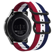 Strap-it® Samsung Galaxy Watch 46mm nylon gesp band (3-kleurig)